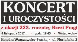 Koncert z okazji 223. rocznicy Rzezi Pragi